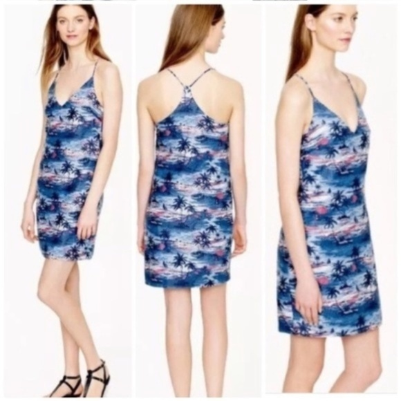 J. Crew Dresses & Skirts - J. Crew 0 Hawaiian Sunset Linen Blend Carrie Dress